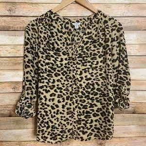 Guess| Leopard Print Blouse| XS